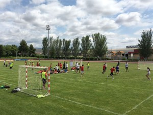 Momento del torneo / Foto: BM Huesca