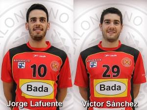 Jorge Lafuente y Víctor Sánchez / Fotos: BM Huesca