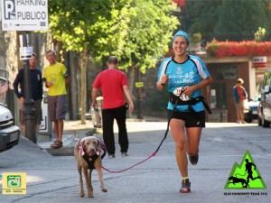 Tamara Vázquez y su perra Diana consiguiendo la 2ª posición / Foto: Oscanicross