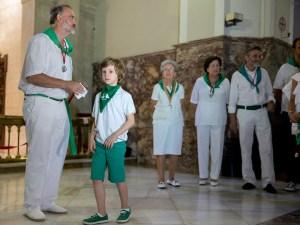 Los niños fueron presentados al Santo / Foto: Miguel A. Vazquez