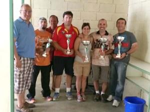 Los primeros clasificados al finalizar la competición / Foto: CT Loreto