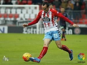 David López en el partido jugado la temporada pasada en Lugo frente a la SD Huesca / Foto: LaLiga