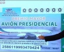 Presentan diseño de boleto para rifa de avión presidencial