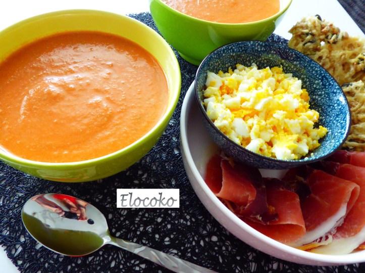 gazpacho - soupe froide espagnole à base de tomates, concombre, poivron