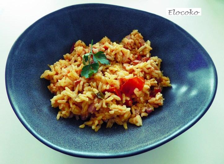 riz a la catalane tomate lardons