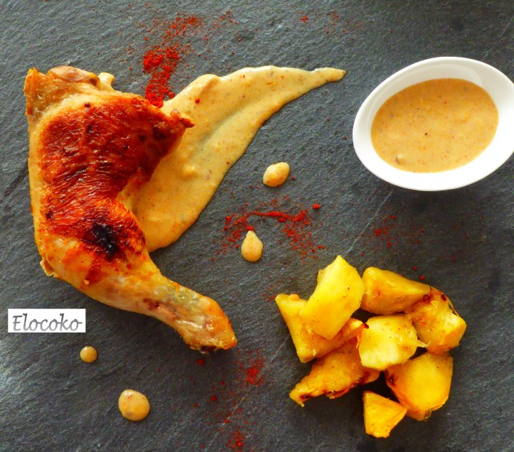 poulet gaston gérard, sauce comté et paprika