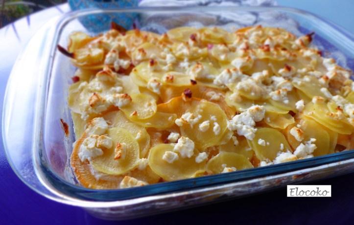 mon gratin d'hiver navets, pommes de terre et betterave jaune