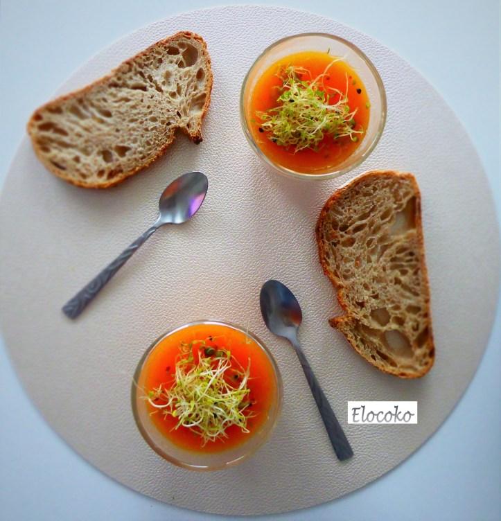 Soupe vitaminée carotte-orange