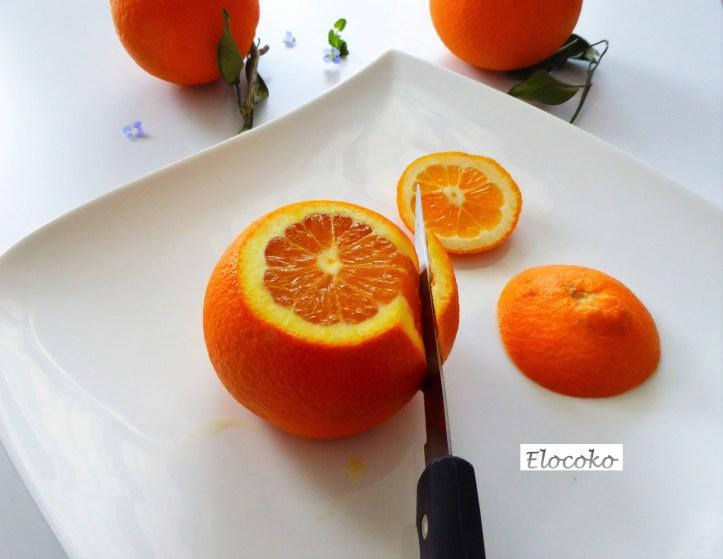 Suprêmes d'agrumes étape 2 : enlever la peau sur les côtés