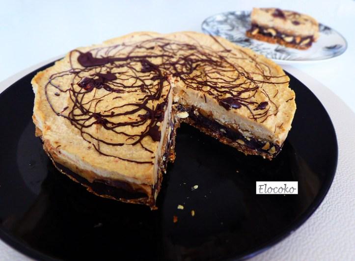 Cheesecake vegan cacahuètes et caramel (façon snickers)