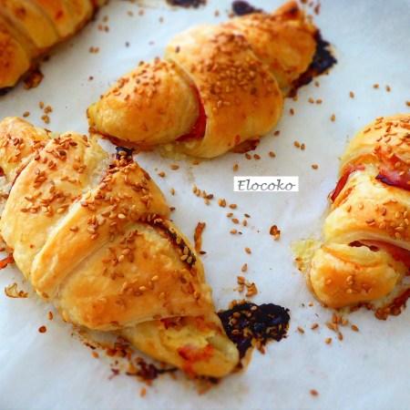 Croissants salés jambon-fromage