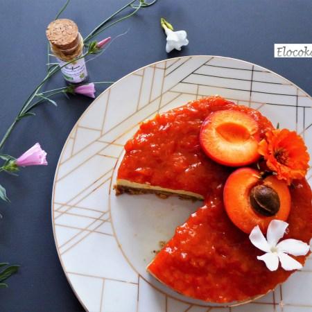 Mon cheesecake à l'abricot, safran et miel