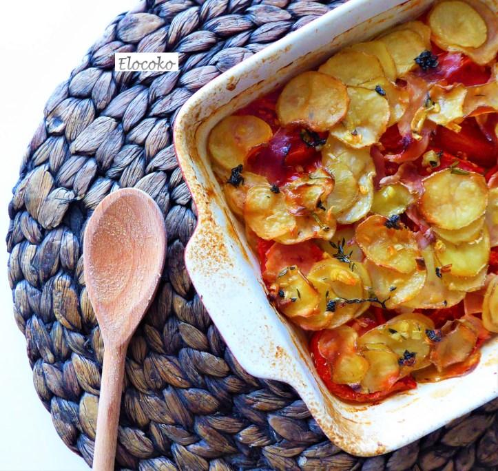 gratin tomates, pommes de terre et saveurs provençales