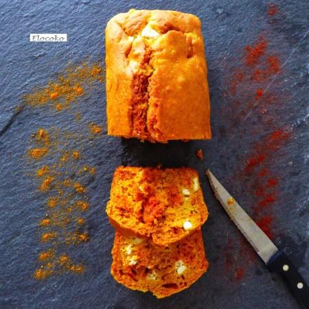 cake chorizo feta épices
