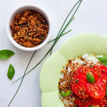 quinola à la moutarde et aux épices