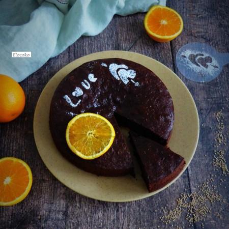 fondant au chocolat, quinoa et orange sans gluten