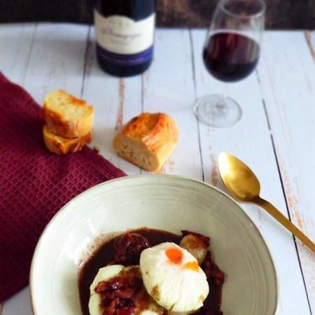 oeufs meurette bourgogne-vin rouge
