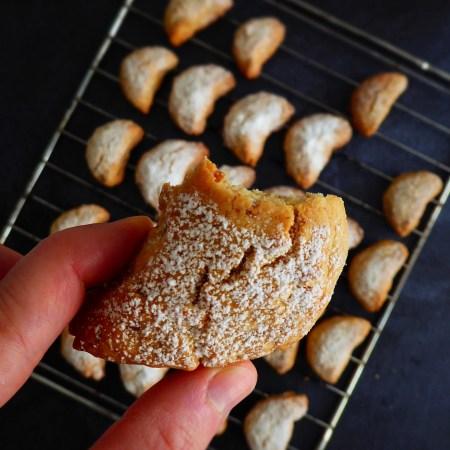 croissants grecs - biscuits de noel
