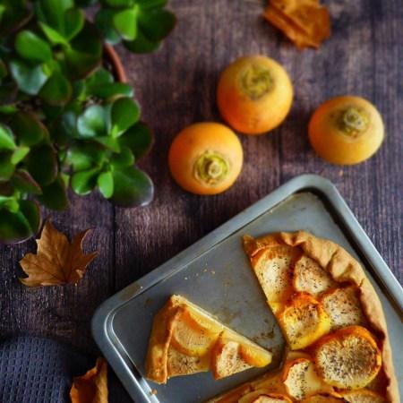 tarte rustique navets, feta et miel