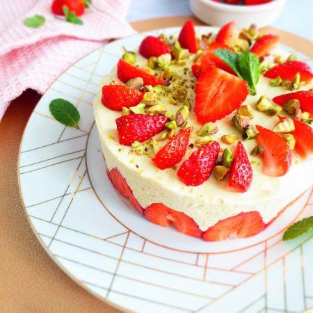 fraisier à ma façon (menthe citron)