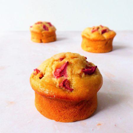 muffin moelleux amande rhubarbe
