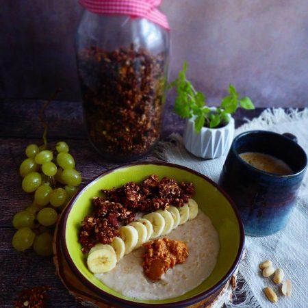 granola choco cacahuètes