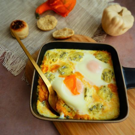 455-oeuf cocotte courge et fourme d'ambert