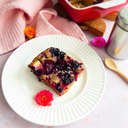 clafoutis poire fruits rouges b