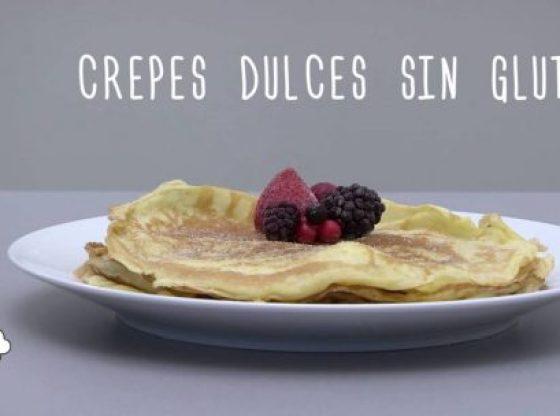 crepes dulces sin gluten. receta rapida y sencilla.