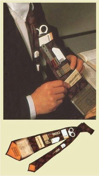 inventos japoneses. la corbata multi usos.