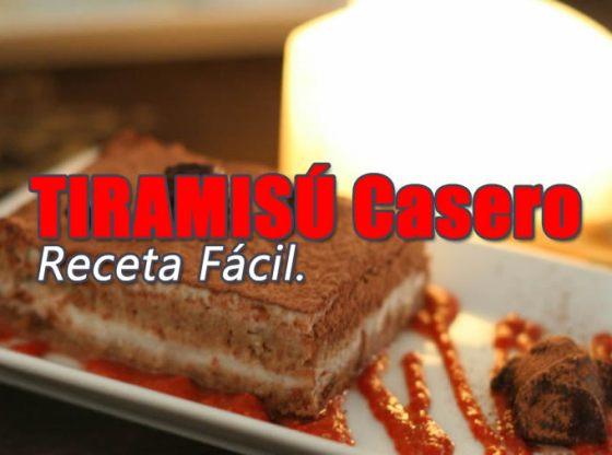 RECETA DE TIRAMISU CASERO