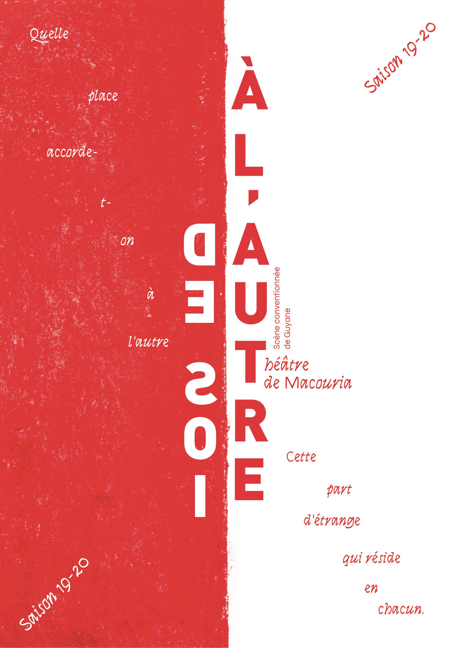 Affiche saison 19-20 du Théâtre de Macouria