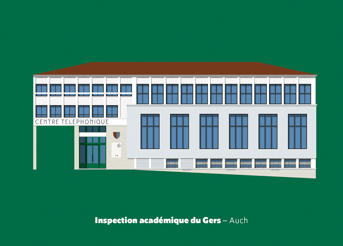 cartes postales gers architecture