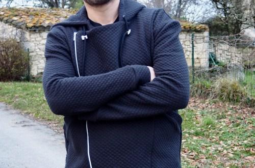 Veste à capuche couture pour homme