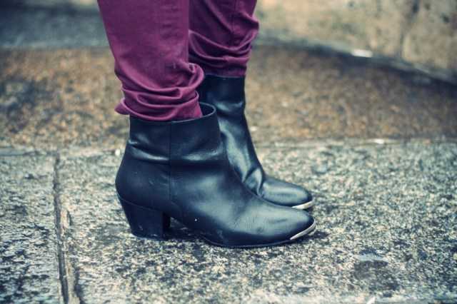 bottines noires femme