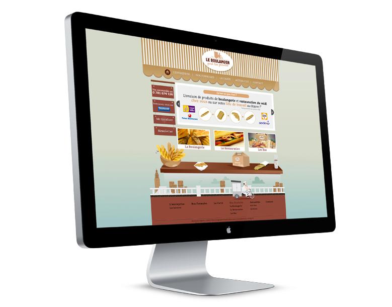 le boulanger perd les pédales elodie le pape graphiste webdesigner