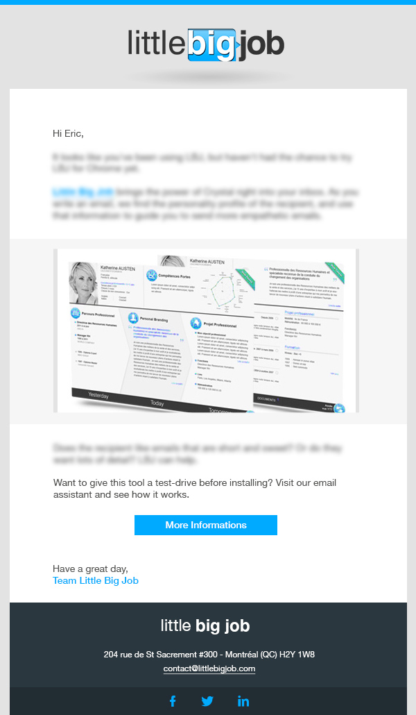 elodie le pape LBJ newsletter webdesign