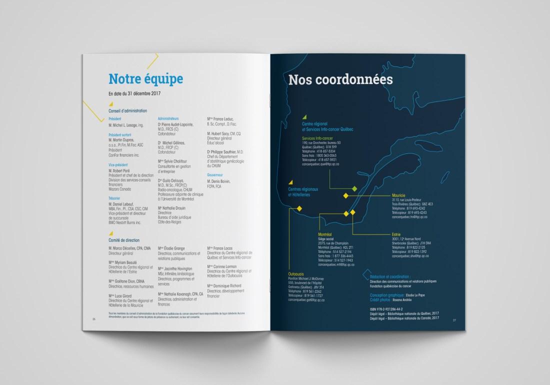 Rapport Annuel Fondation Québécoise du Cancer
