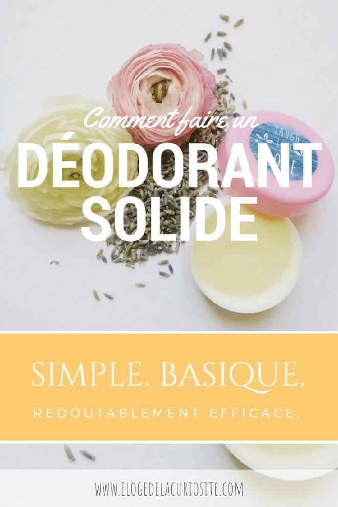 Recette facile et rapide du déodorant maison solide a l'huile de coco et bicarbonate