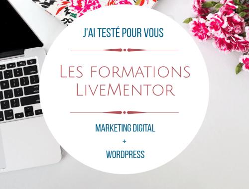 J'ai testé pour vous les formations LiveMentor Marketing Digital WordPress, voici mon avis
