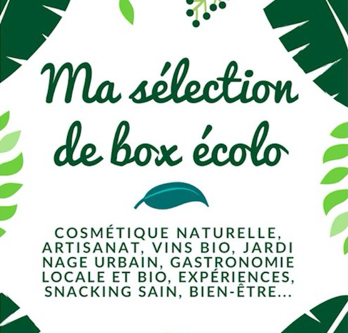 les box écologiques, de super idées de cadeaux pour hommes et femmes ! cosmétique naturelle, vins bio, jardinage urbain, artisanat, gastronomie locale, snacking sain, bien-être...
