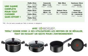 gamme so recycled téfal poeles et casseroles recyclées et recyclables fabriquées en france