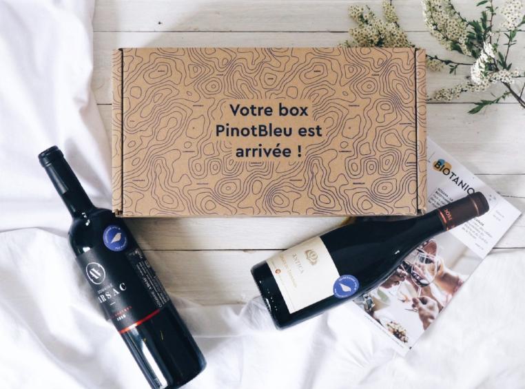 idée cadeau homme : la box de vin biologique pinot bleu