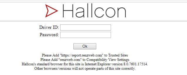 hallcon driver login id