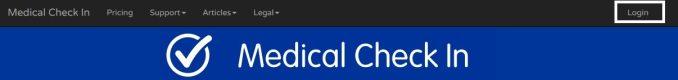 Medical Check In Login