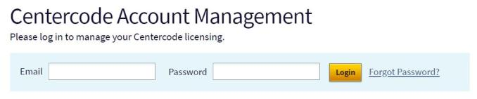 Centercode Account Management Login