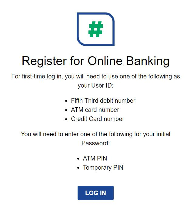 Fifth Third Bank online banking register
