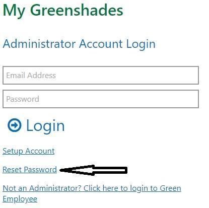 Green Employee Portal Reset Password