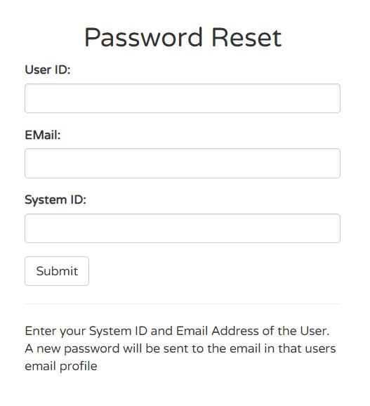 Password Reset Medical CheckIn Login