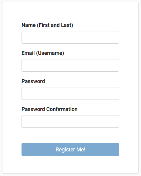 Clinic Registration Page